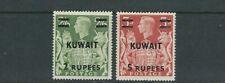 Kuwait 1948-49 KGVI (Scott 80-81 2 Vals Only) VF Nuovo senza Linguella