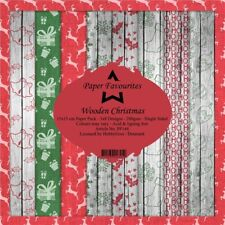 New Dixi Craft  Paper Favourites 15 x 15cm Wooden Christmas
