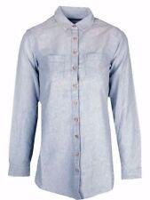 Fat Face Womens Light Denim Cotton Shirt Top RRP £40 Size 6 8 10 12 14 16 (UT)