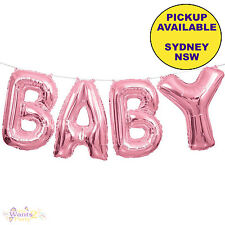 BABY SHOWER PARTY SUPPLIES FOIL PINK GIRL LETTER BALLOON BANNER KIT DECORATIONS