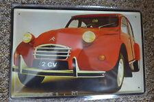 Citroen 2CV Car Tin Metal Sign Painted Poster Comics Book Superhero Wall Ar