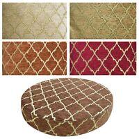 "2""Thick-Round Box Shape Cover*Rhombus Chenille Chair Seat Cushion Case*Wk6"