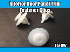 50x Clips For VW Sharan Interior Door Panel Trim Fasteners White Plastic