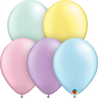"""LATEX 16""""(40CM) METALLIC PASTEL ASSORTED PACK OF 50 QUALATEX BALLOONS PARTY S..."""