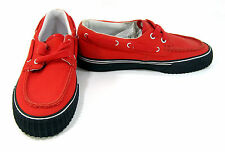 PF Flyers Boat Shoes Dionas Low Red/Black Topsiders Size Mens 4.5 Womens 6