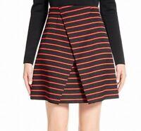 Proenza Schouler NEW Black Red Women's Size 4 A-Line Striped Skirt $1190 #661