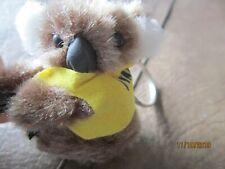 "I Love Australia Fuzzy 2"" Koala Bear clip on hands Key Chain Collectable Yellow"
