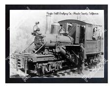 Historic Pacific Gold Dredging Co.- Shasta County, California Train Postcard