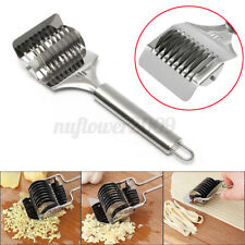 Fettuccine Pasta Noodle Maker Lattice Roller Dough Cutter Tool Stainless Steel