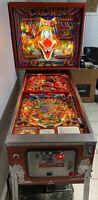 ZACCARIA 1985 CLOWN PINBALL MACHINE SUPER DUPER RARE PLAYS GREAT