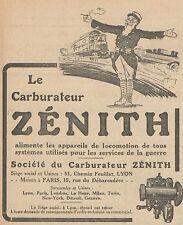 Z8401 Carburateur ZENITH - Pubblicità d'epoca - 1918 Old advertising