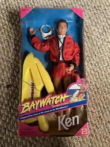 New Vintage 1994 Baywatch Ken Barbie Doll Lifeguard With Wave Runner #1320 NRFB