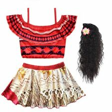 Grils Moana Dress Kids Summer Straps Backless Dress Princess Costume Clothes