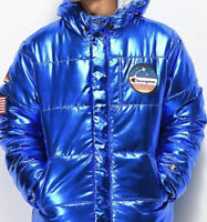 CHAMPION X NASA NWT METALLIC SPACE MOON GRAIL HYPE PUFFER COAT PUFFY Men's Large