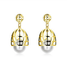 Push Back Clasp L519 Yellow Gold Plated Earrings Stud