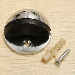 Metal Oval Door Stop Door Stopper Floor Doorstop Rubber Interior Holder Home  HB