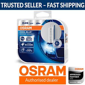 D4S OSRAM Xenarc Cool Blue Intense 6000K White Xenon HID Bulbs (Twin Pack)