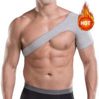Adjustable Charcoal Shoulder Support Brace Strap Joint Sport Gym Compression NEW