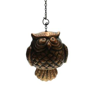 Wind Chime, Rustic Decorative Owl Outdoor Wind Bell Hanging Décor red bronze