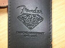FENDER Diamond Anniversary, 60th, 1946- 2006, BLACK  LEATHER GUITAR STRAP.