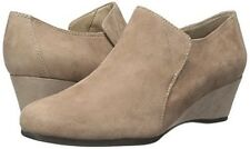 Easy Spirit Lareina ankle boot wedge dark taupe suede leather 8.5 WIDE New