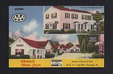 Roanoke Virginia VA 1940s Whitehall Motor Court Motel, US 11, 220, Central North