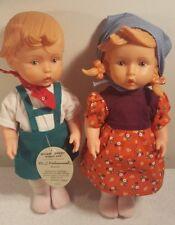 Vtg Girl and Boy Dolls by M. J. Hummel Goebel Germany Plastic Head Body Ltd. Ed.
