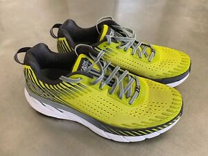 Hoka One One Mens Clifton 5 Running Shoes - UK Size 8.5 Yellow Evening Primrose