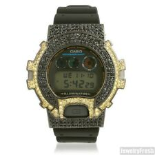 Casio G-Shock DW6900 Watch Iced Out Black and Yellow