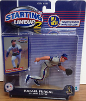 Rafael Furcal Atlanta Braves MLB Starting Lineup 2 action figure & trading card