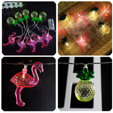 10LEDS Flamingo Pineapple Fairy LED String Lights Patio Wedding Party Decor