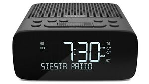 Pure Siesta S2 DAB+ FM Radio Alarm Clock Auto Dimming USB Charge Black - NEW