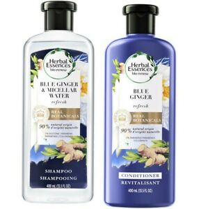 2 ~ HERBAL ESSENCES 13.5 oz BLUE GINGER Micellar Water SHAMPOO & CONDITIONER LOT