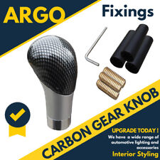 Carbon Fibre Car Gear Knob Shift Stick Shifter Leaver Manual Change Black Silver