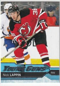 2016-17 UPPER DECK YOUNG GUNS ROOKIE RC #523 DEVILS - NICK LAPPIN
