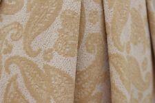 SALE!!! Ethnic Mango Leaf Soft Lurex Poly Jersey Dress Fabric Material (Sand)