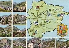 Carte Géographique avec 11 vues et Blason de ANDORRE ANDORRA