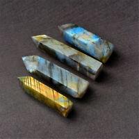 Natural Labradorite Moonstone Crystal Point Healing Stone Fluorite Wand Quartz
