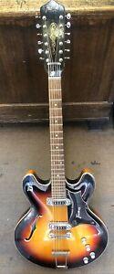 Vintage Framus 1960's 12 String Electric Hollow Body Guitar W/Hard Case