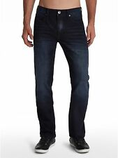 "(NWTS)Men's GUESS""McCrae""Zip Fly Low Rise Ultra Slim DARK Denim Jeans Sz 32x34"