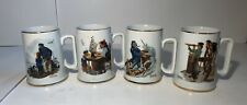 Norman Rockwell Museum Nautical Mugs - Vintage 1985 Steins Cups Tankards