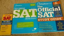 Lot of 3 SAT Study Guide Books Tests & Barrons Word Master Level 1 Set Practice