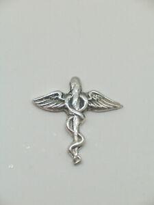 Spilla da giacca (pins) Ordine dei Farmacisti in Argento 925- Farmacia - Caduceo