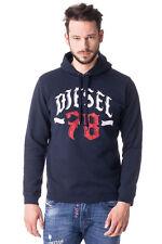 RRP €110 DIESEL Size M Men's S-ANJ Printed Front Pullover Hoodie / Sweatshirt
