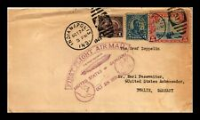 DR JIM STAMPS US INDIANAPOLIS GRAF ZEPPELIN FIRST FLIGHT AIR MAIL COVER 1928