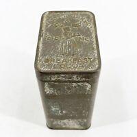 """Antique VTG Walter Baker & Co. Ltd. Breakfast Cocoa Embossed Metal Tin 4"""" x 3"""""""