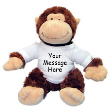 "Personalized Stuffed Monkey - 12"" Aurora Tubbie Wubbies Chimp"