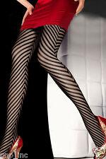 Ladys Womens Black Sexy Fishnet Pattern Arrow Striped Stockings Pantyhose Tights