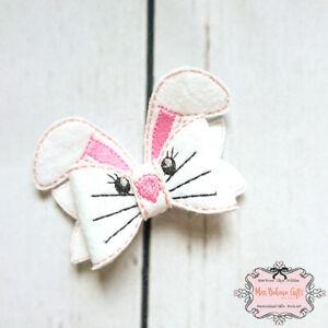 Bunny Rabbit Hair Bow Clip