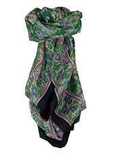 Mulberry Silk Classic Square Scarf Alisha Black by Pashmina & Silk